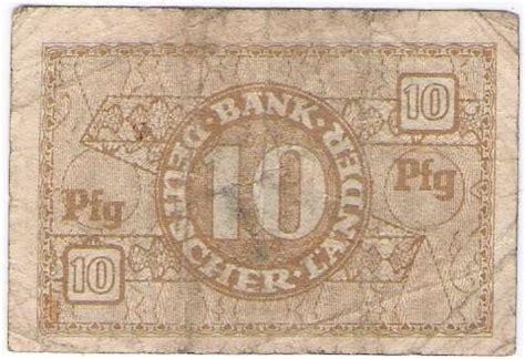 landers bank world non israeli banknotes germany 10 pfennig bank