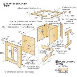 planter box construction detail plans diy free