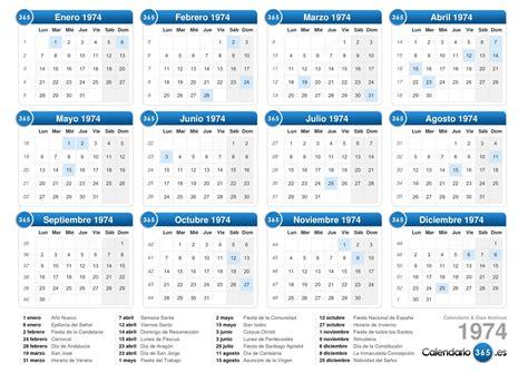 Calendrier Scolaire 2018 Mauritius Calendario 1974