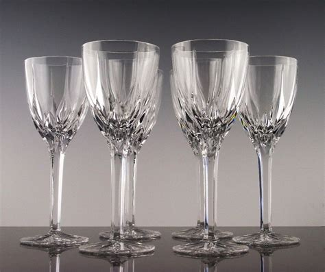 crystal barware apollo wine glasses by mikasa crystal from the rose