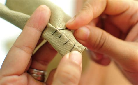 Couched Definition by How To Sew Vertical Hem Stitch Stitch 5 Steps