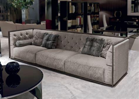 polyurethane sofa durability three seater sofa in fabric napoleon longhi luxury