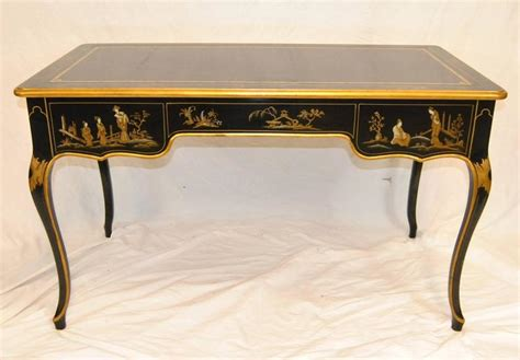 chinoiserie desk black lacquered chinoiserie writing desk by baker