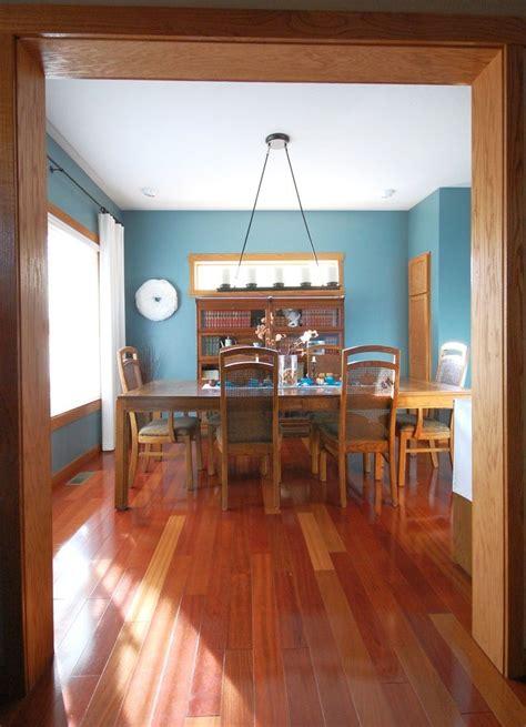 dining room  oak trim paint color sherwin