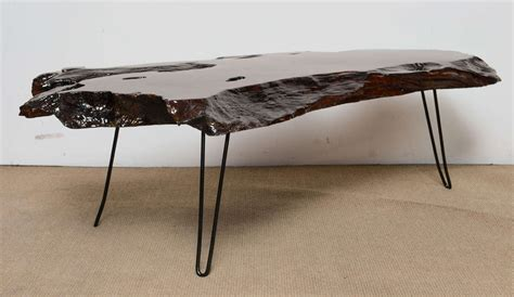 Resin Coffee Table Mid Century Tree Trunk Resin Coffee Table At 1stdibs