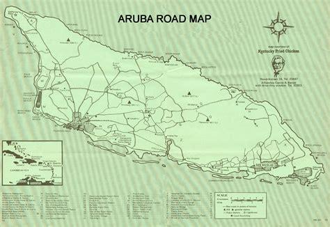 printable aruba road map aruba road map from 1989