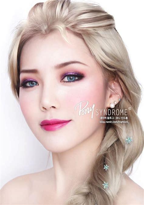 Inez Eyeshadow No 1 disney frozen elsa make up tutorial how to do via pony make up
