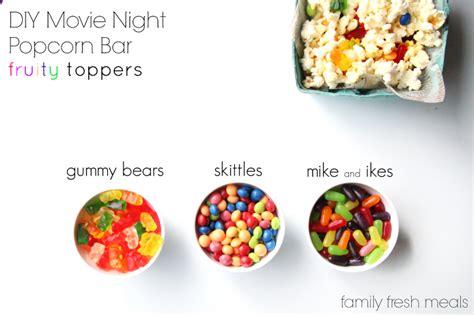 diy  night popcorn bar family fresh meals