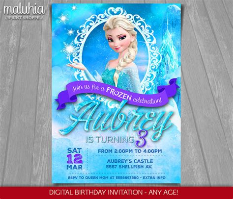 printable birthday cards elsa frozen birthday invitation elsa frozen invitation printable