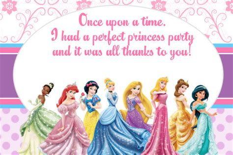 9 best images of free printable princess invitation cards