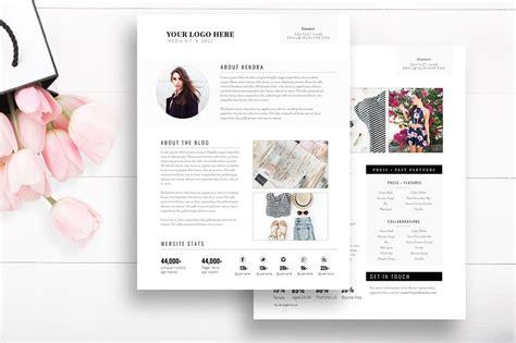 indesign template media kit blog by stephanie design