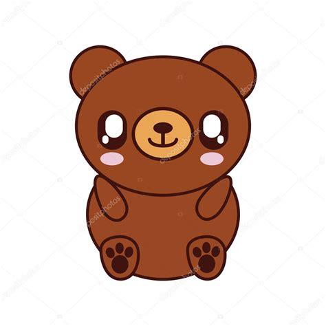imagenes de osito kawaii oso kawaii cute animal icono vector de stock 169 djv