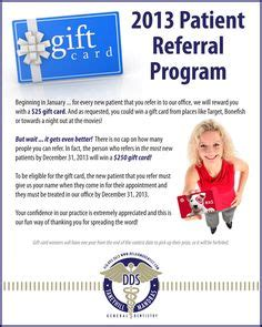 dental referral card template patient referral card template pictures to pin on