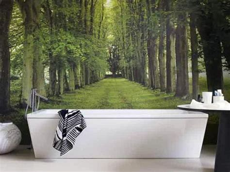 modern wallpaper for bathrooms modern bathroom design and decorating with wallpaper