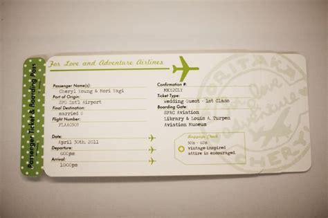 Wedding Invitation Wording: Wedding Invitation Airline