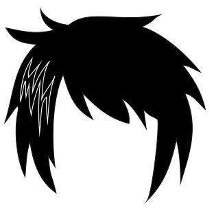 membuat rambut karakter anime  manga