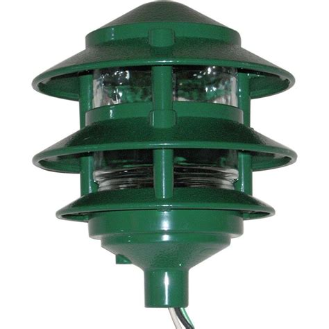 3 tier landscape lighting greenfield weatherproof 3 tier path light green pl3tg the home depot