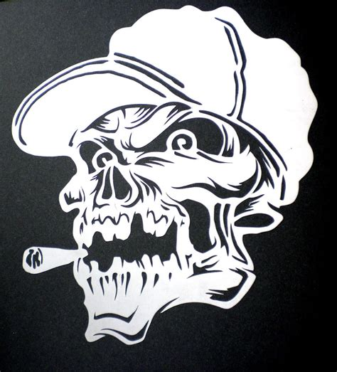 pattern airbrush high detail airbrush stencil spliff skull free uk postage