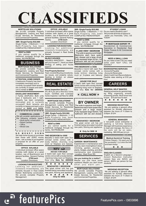 newspaper ads photo