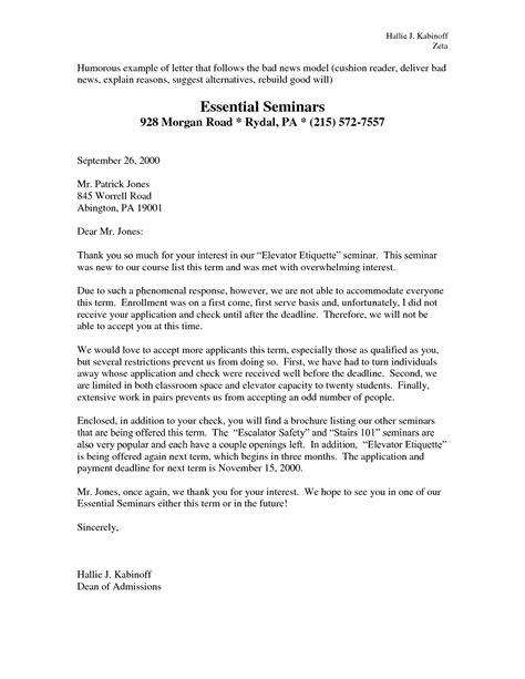 Business Letter Bad News Best Photos Of Bad Business Writing Exles Bad News Business Letter Exle Bad News