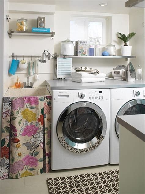 Small Laundry Room Decorating Ideas with Blue Laundry Room Ideas