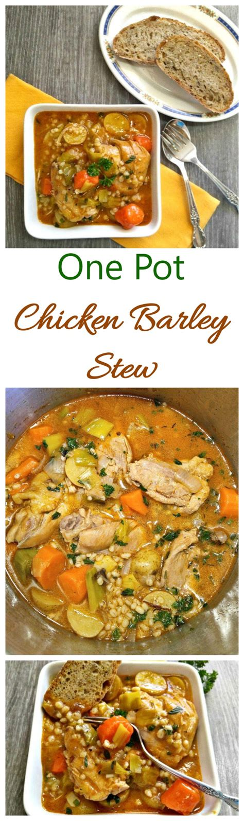 one pot comfort food one pot chicken barley stew hearty winter vegetable stew
