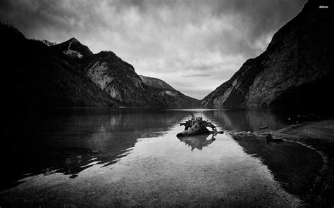 black and white mountain wallpaper black and white mountain lake hd wallpaper hd nature