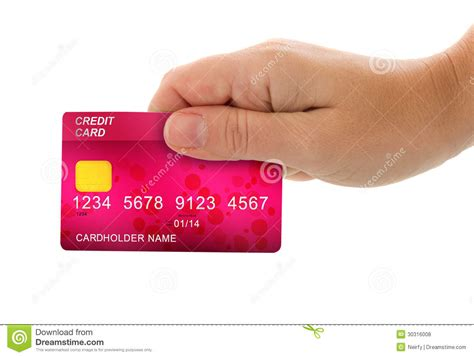Holding Credit Card Template Holding Credit Card For Payment Royalty Free Stock Photos Image 30316008