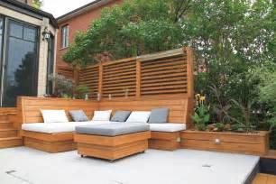 am 233 nagement paysager terrasse de pav 233 et mobilier en bois