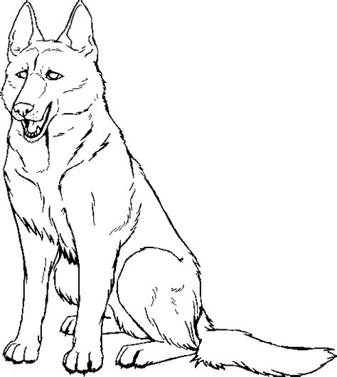 german shepherd free coloring pages