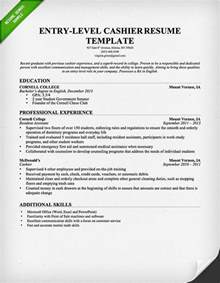 Exle Of Cashier Resume by Cashier Resume Sle Writing Guide Resume Genius