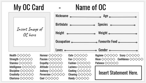 oc card template oc card template by sleepybebe on deviantart