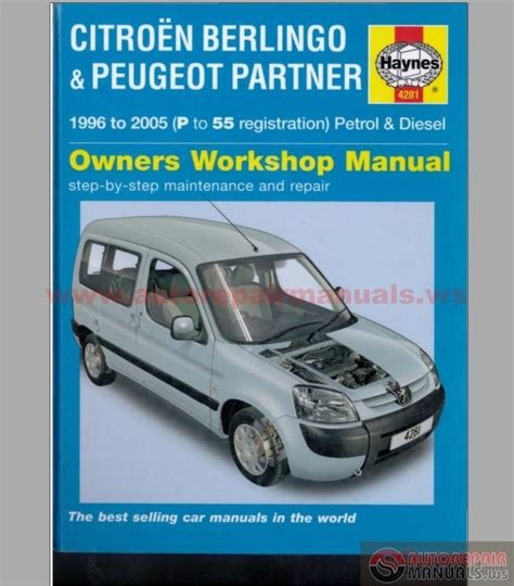 haynes manual repair citroen berlingo peugeot partner 1996