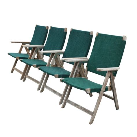 Patio Folding Chairs by 4 Vintage Outdoor Folding Chairs Ebay