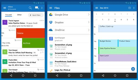 outlook on android after acquiring mobile email startup acompli microsoft launches outlook for android and ios