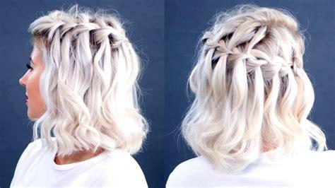 how to braid short hair how to waterfall braid short hair milabu