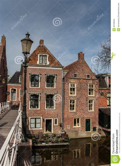 Oud Appingedam by Oude Huizen In Het Centrum Appingedam Stock Foto