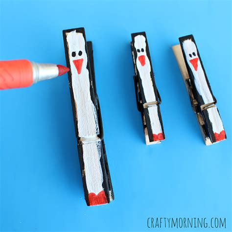 clothespin crafts clothespin penguin craft for crafty morning