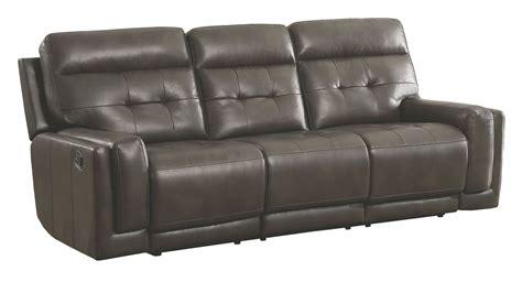 motion reclining sofa trenton motion dark grey reclining sofa from coaster