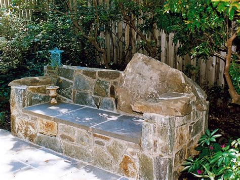 stone patio bench design flagstone and fieldstone bench eclectic outdoor