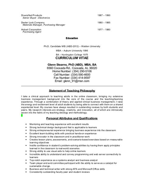 Huntingdon College Mba by Resume And Cv 4 2014