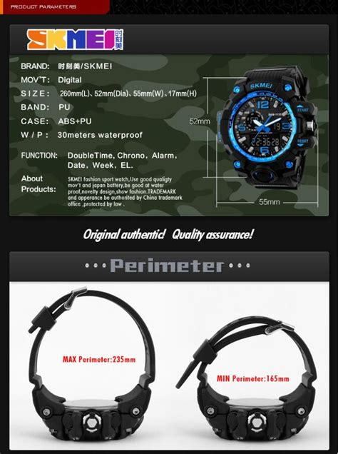 Jam Tangan Skmei 1155 Original Waterproof Pria skmei 1155 waterproof outdoor mi end 9 21 2018 3 15 pm