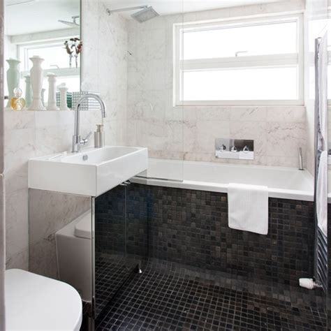 Bathroom Ideas Uk Monochrome Marble Tiled Bathroom Bathroom Decorating Ideas Housetohome Co Uk