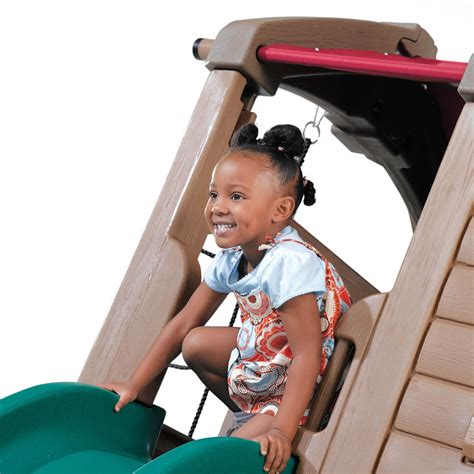 step2 naturally playful swing set step2 daily deal adventure lodge play center with glider