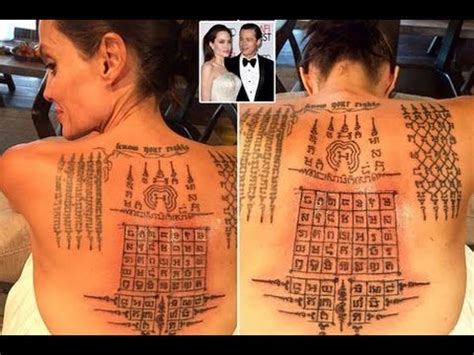 thai monk gives angelina jolie painful tattoos binding