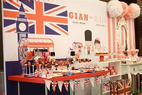 london themed events paris london theme birthday party ideas photo 6 of 11