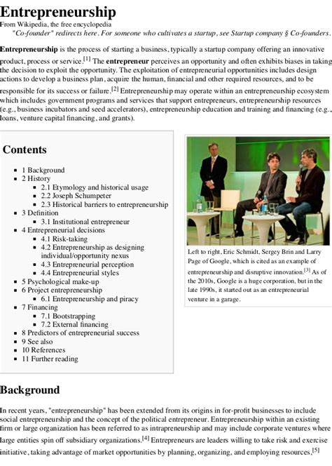 how soon is now wikipedia the free encyclopedia entrepreneurship wikipedia the free encyclopedia