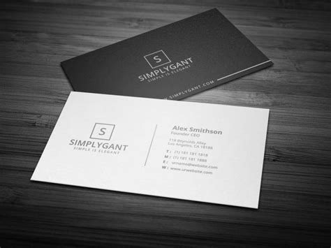 business card black stock ai template 14 sleek business card designs templates psd ai