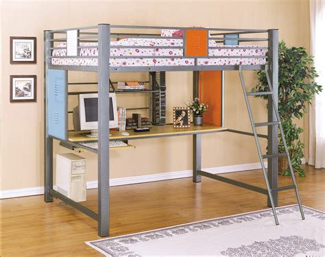 powell bunk beds with desk powell teen trends full loft study bunk bed price 1 016