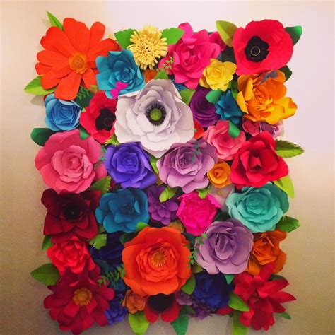 How To Make Paper Mexican Flowers - flower backdrop for a photo shoot or event